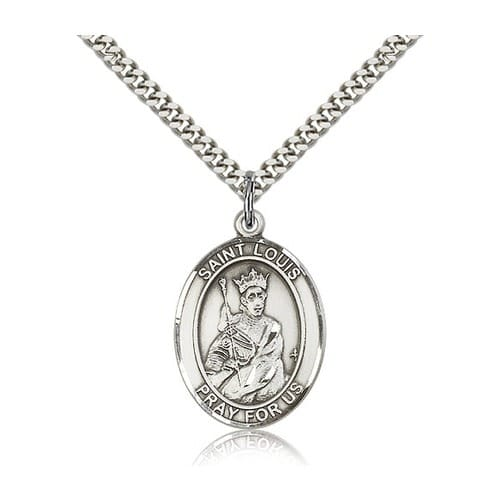 sterling silver st louis pendant w chain the catholic company. Black Bedroom Furniture Sets. Home Design Ideas