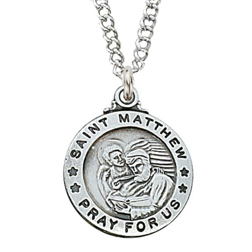 Sterling Silver St. Matthew the Evangelist Medal