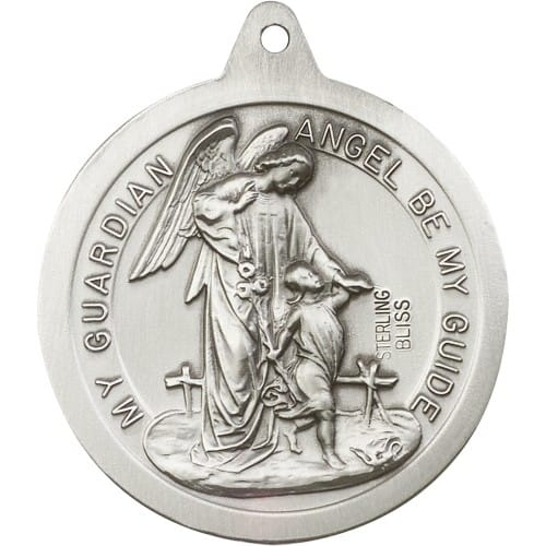 Sterling Silver St Michael The Archangel Pendant The