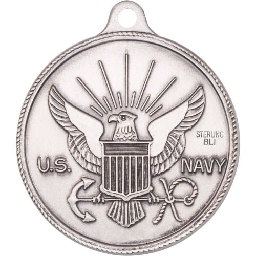 Sterling Silver St Michael Navy Pendant The Catholic