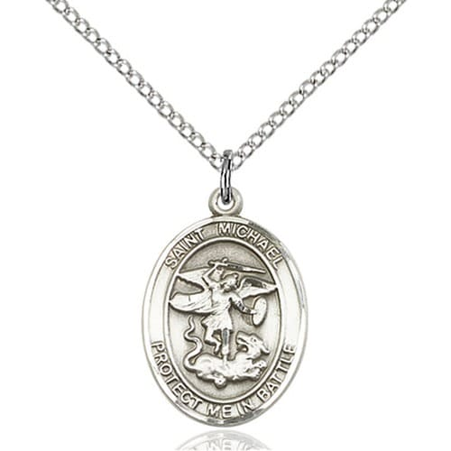 sterling silver st michael pendant guardian the