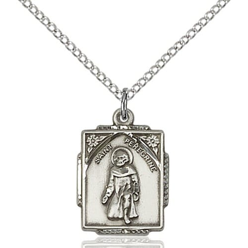 Sterling silver st peregrine pendant the catholic company sterling silver st peregrine pendant mozeypictures Image collections