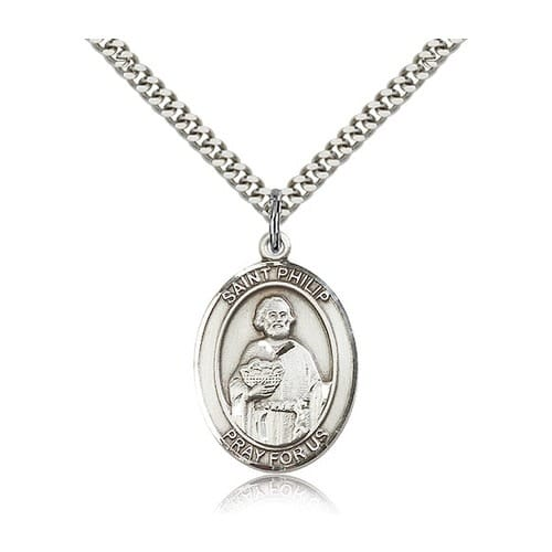 Sterling Silver St. Philip the Apostle Pendant w/ chain