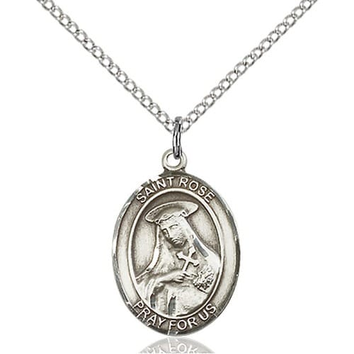 Sterling Silver St. Rose of Lima Pendant