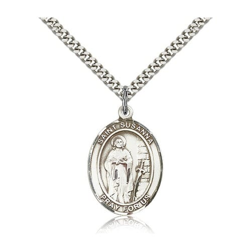 Sterling Silver St. Susanna Pendant w/ chain