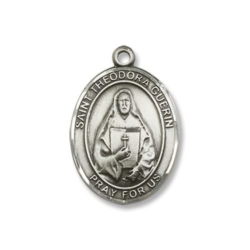 Sterling Silver St. Theodore Guerin Pendant w/ Chain