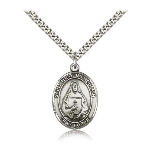 Sterling Silver St. Theodora Guerin Pendant w/ chain