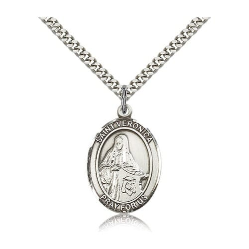 Sterling Silver St. Veronica Pendant w/ chain