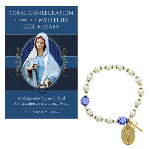 Total Consecration Through the Mysteries of the Rosary & Miraculous Medal Bracelet Set