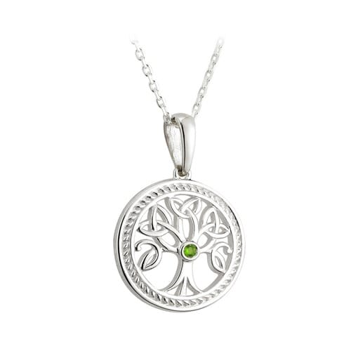 Tree of Life Sterling & Peridot Pendant