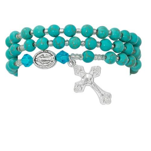 Turquoise Jasper Rosary Wrap Bracelet