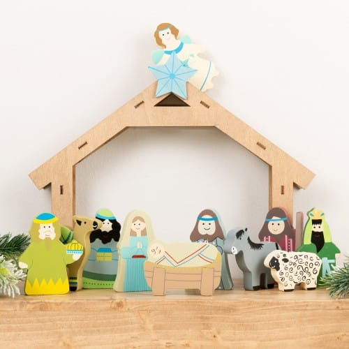 Children's Wooden Nativity Set - 12 Piece