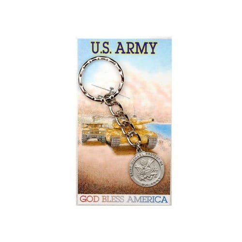 U.S. Army St. Michael Keyring & Prayer Card Set