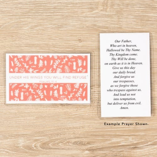 Under His Wings Personalized Prayer Card