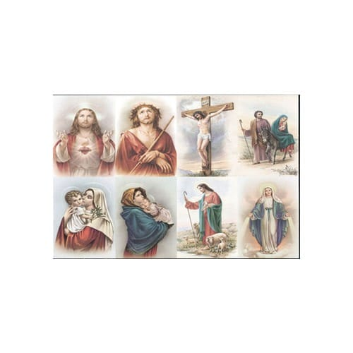 Velasquez Assorted Subjects Personalized Prayer Card (Priced Per Card)