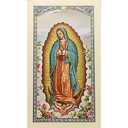 Virgen de Guadalupe, Madre (Our Lady of Guadalupe)  - Spanish Prayer Card