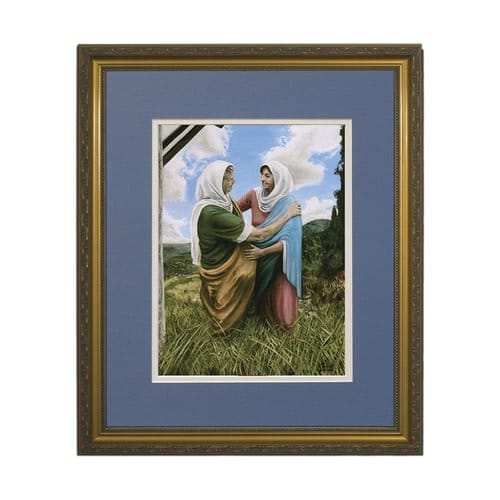 The Visitation II (Matted w/ Gold Frame)