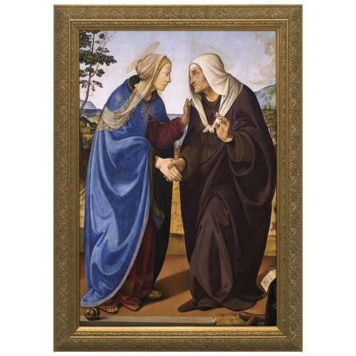 The Visitation of Mary and Elizabeth w/ Gold Frame