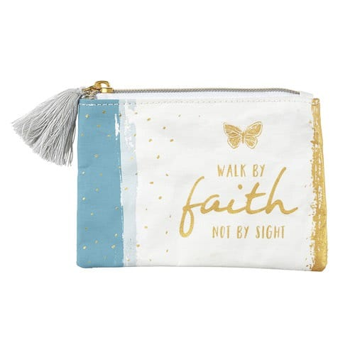 Walk By Faith Rosary Keepsake Pouch