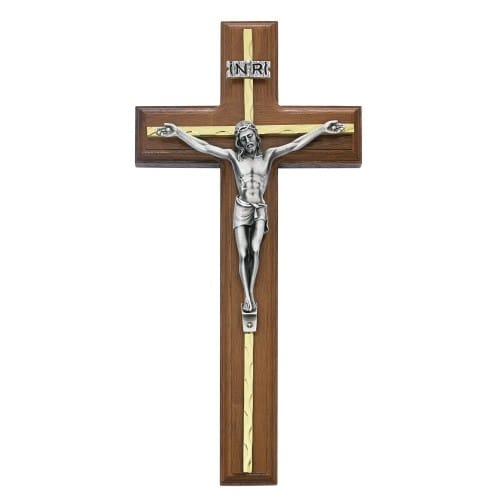 Walnut Stain Crucifix 10