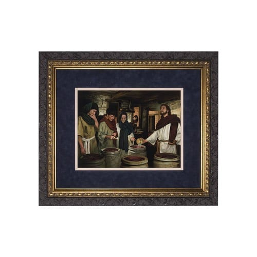 The Wedding at Cana (Matted w/ Dark Ornate Frame)