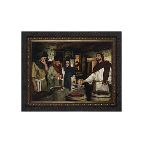 The Wedding at Cana w/ Dark Ornate Frame