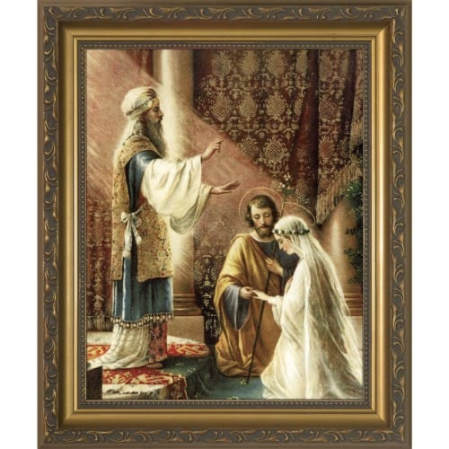 Wedding Of Joseph Amp Mary Framed Print The Catholic Company