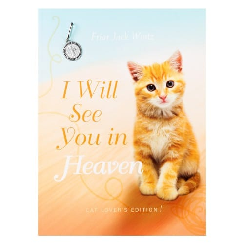 i will see you in heaven cat lover 39 s edition with pet medal the catholic company. Black Bedroom Furniture Sets. Home Design Ideas