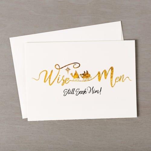 wise men seek him gold black christmas cards set of 20 the