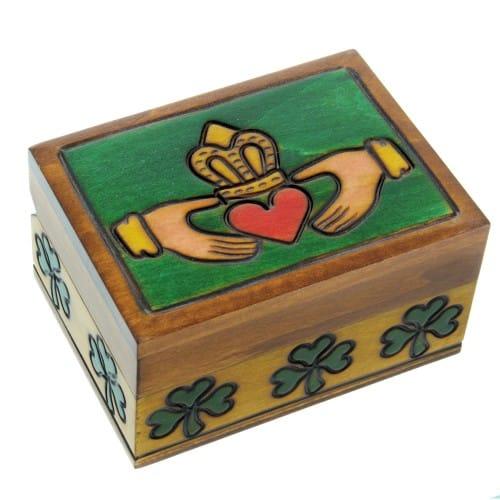 Wooden Irish Claddagh Box The Catholic Company