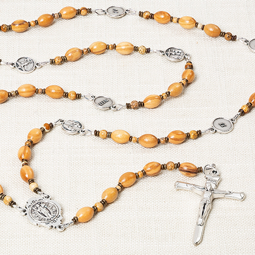 Olive Wood Stations of the Cross Chaplet