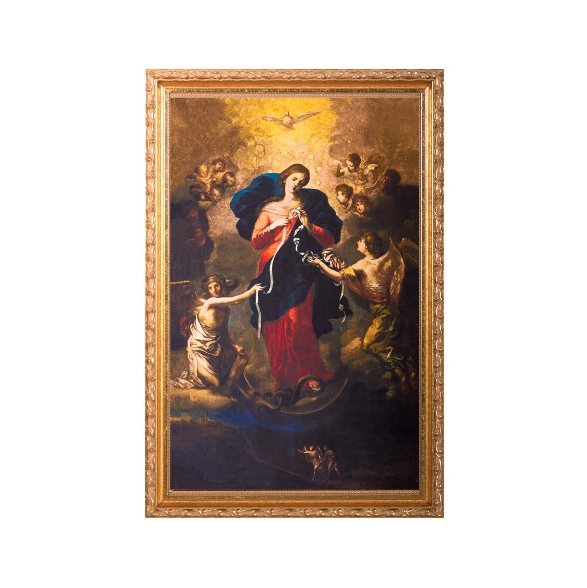 Mary Undoer of Knots framed painting