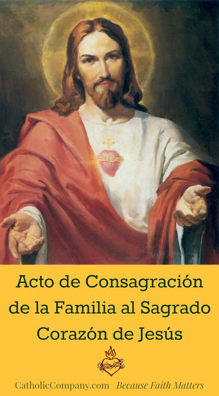Acto de Consagracion de la Familia al Sagrado Corazon de Jesus image