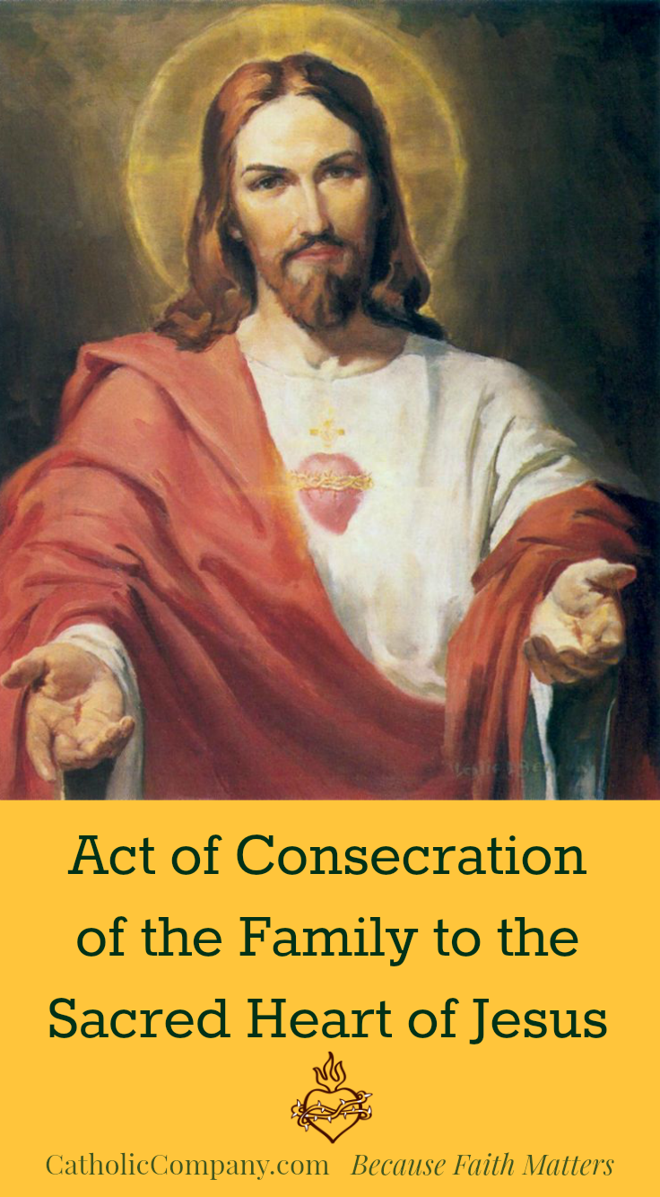 Act of Consecration of the Family Sacred Heart of Jesus image