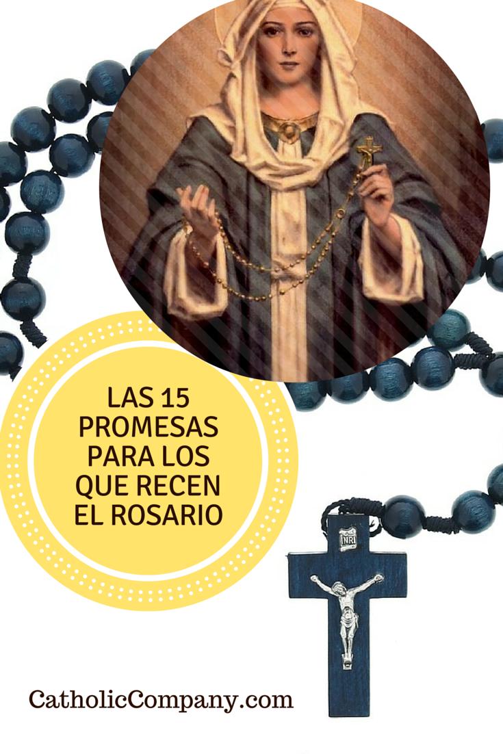 Las 15 Promesas para los que Recen el Rosario