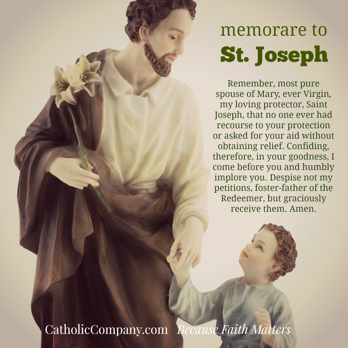 Prayer to St Joseph image
