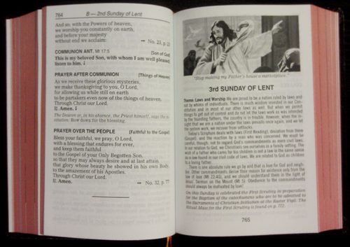 Saint Joseph Missal Sample Page