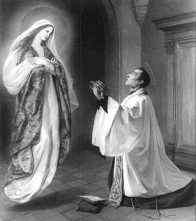 St Louis de Montfort with Virgin Mary