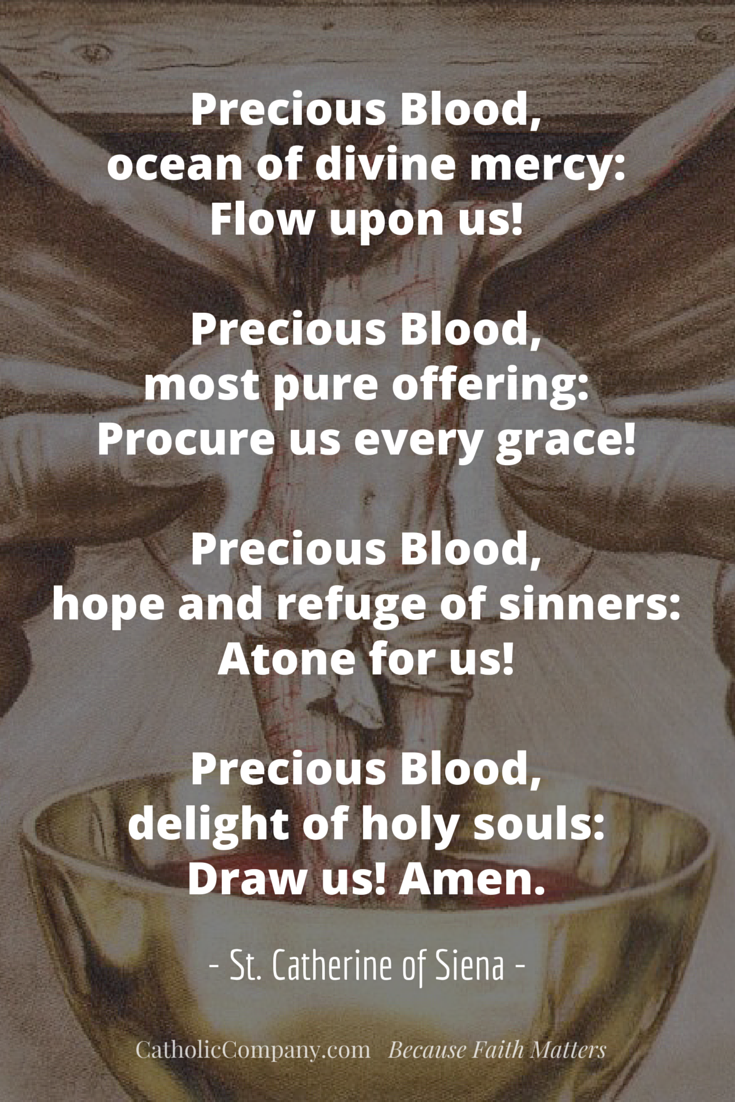 Constant Prayer of St. Catherine of Siena to the Precious Blood of Jesus