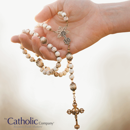 Holding a Rosary