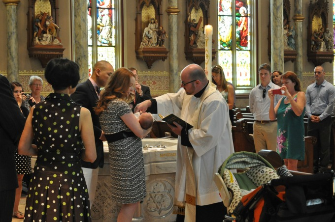 The baptismal ceremony can take anywhere from 20 to 40 minutes, depending on how many baptisms are taking place.
