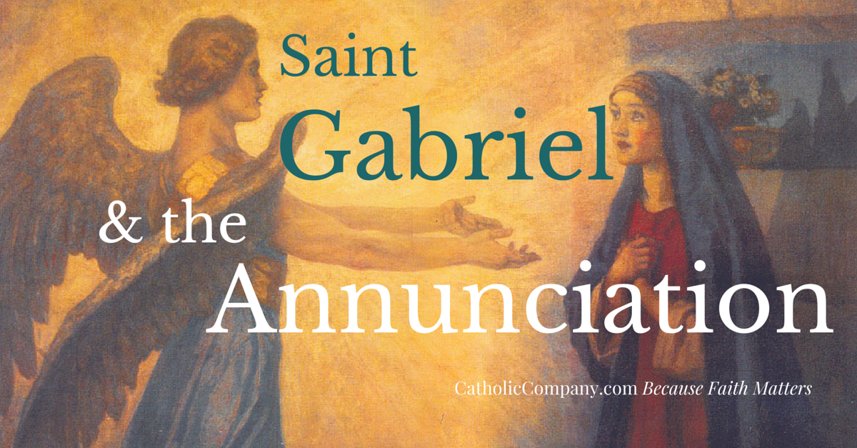 All three of St. Gabriel's appearances in the Bible have a common thread, the annunciation of the coming of the Messiah.