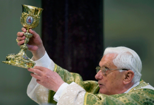 Holy Father Benedict XVI Celebrating the Eucharist