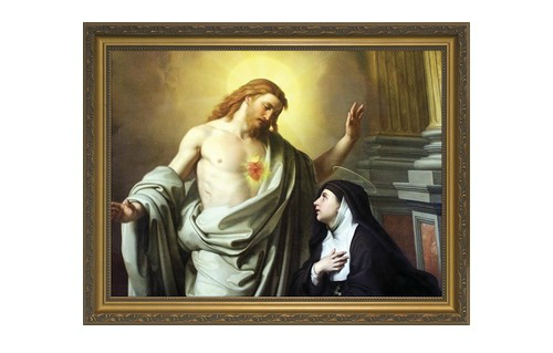 St. Margaret Mary Alacoque painting