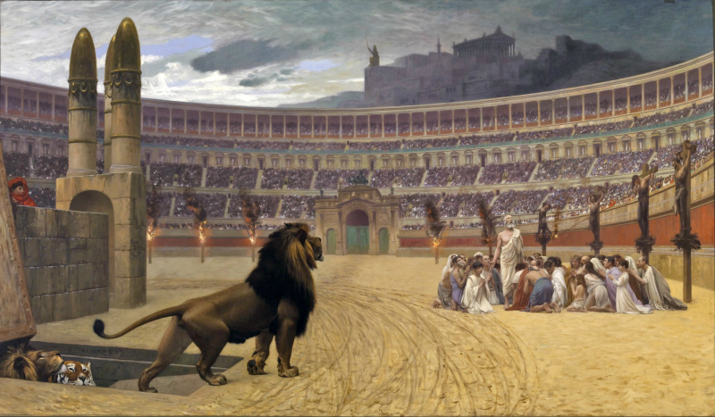 Christian martyrs in the Roman Colosseum