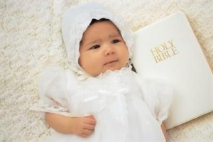 Baby with a Bible