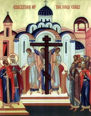 The Feast of the Exaltation of the Holy Cross - St. Helena discovers the True Cross and the Church of the Holy Sepulchre is built by Constantine.