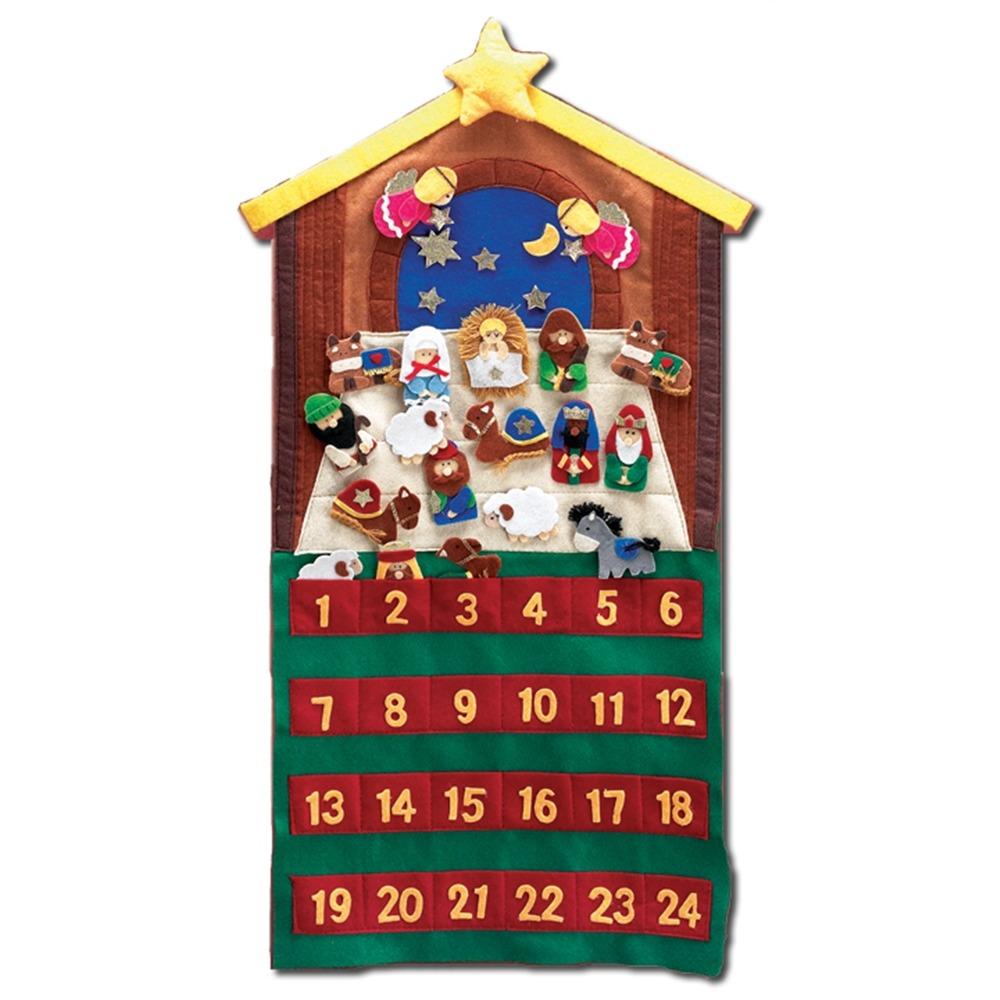 Felt Advent Calendar w/ Velcro Figures