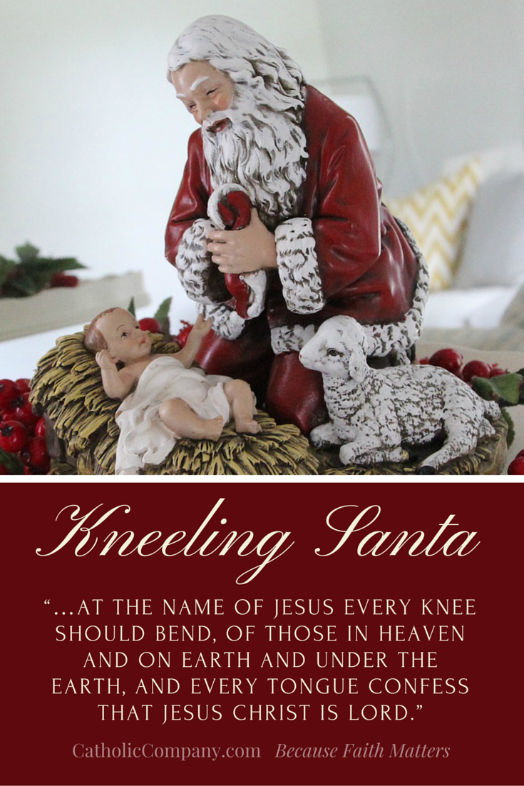 The Kneeling Santa Christmas figure collection