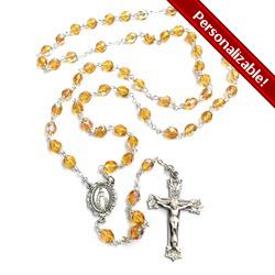 Bohemian Glass November Birthstone Rosary